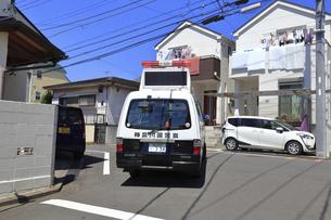 出動する警察車両の写真素材 [FYI04867314]