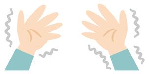 手のふるえのイラストレーションのイラスト素材 [FYI04867380]