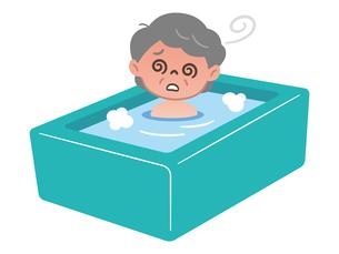 お風呂でのぼせる高齢女性のイラスト素材 [FYI04867391]