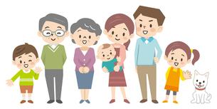 三世代家族のイラスト素材 [FYI04867409]