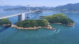 来島海峡の渦潮(うずしお) しまなみ海道の写真素材 [FYI04867621]