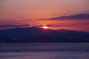 亀老山から見た来島海峡(愛媛県今治市大島/しまなみ海道)の写真素材 [FYI04867641]