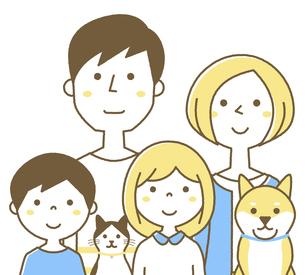 家族 二世代のイラスト素材 [FYI04867951]