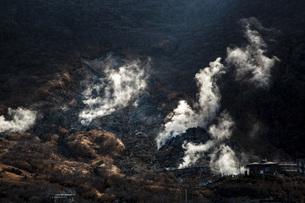 箱根火山の大涌谷園地の写真素材 [FYI04868283]