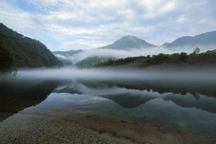 上高地 朝霧の大正池 長野県の写真素材 [FYI04869137]
