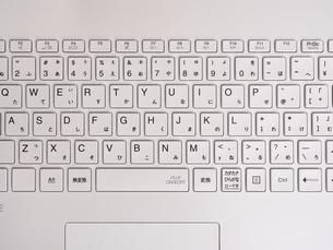 ノートパソコンのキーボードの写真素材 [FYI04869302]