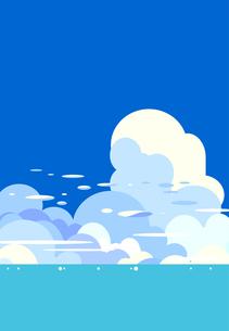 夏の日の雲と海と青空の風景イラストのイラスト素材 [FYI04869989]