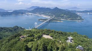 カレイ山展望台と伯方・大島大橋(しまなみ海道)の写真素材 [FYI04870368]