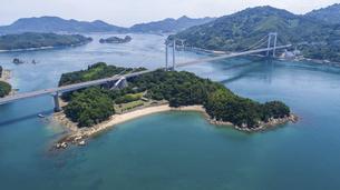 見近島と瀬戸内海(しまなみ海道)の写真素材 [FYI04870392]