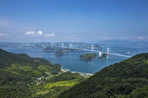 大島亀老山から見た来島海峡(しまなみ海道)の写真素材 [FYI04870395]