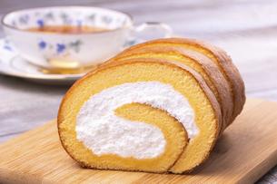 ロールケーキの写真素材 [FYI04870413]