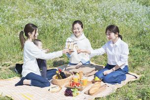 ピクニックを楽しむ人たちの写真素材 [FYI04870941]