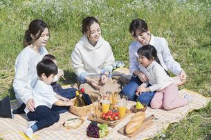 ピクニックを楽しむ人たちの写真素材 [FYI04870947]