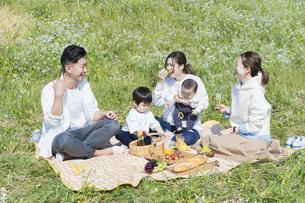 ピクニックを楽しむ人たちの写真素材 [FYI04870952]