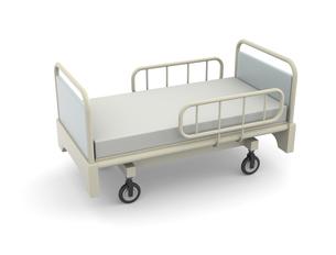 病院のベッドのイラスト素材 [FYI04871262]