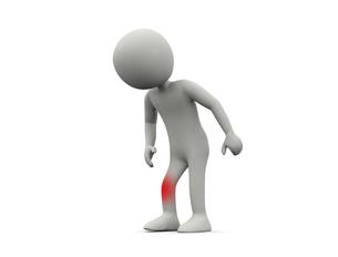 膝の痛いキャラクターのイラスト素材 [FYI04871269]