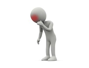 頭が痛いキャラクターのイラスト素材 [FYI04871270]
