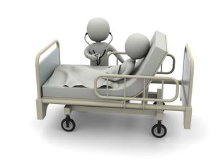 入院患者と医者のイラスト素材 [FYI04871276]