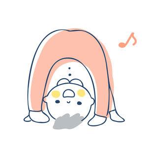 また覗きをして遊ぶ赤ちゃんのイラスト素材 [FYI04871278]