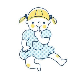 指しゃぶりをする女の子のイラスト素材 [FYI04871283]