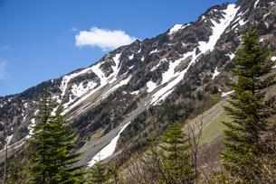 西穂高岳の稜線の写真素材 [FYI04871363]
