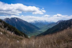上高地の梓川と大正池、乗鞍岳の写真素材 [FYI04871380]