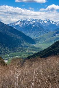 上高地の梓川と大正池、乗鞍岳の写真素材 [FYI04871381]