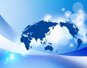グローバル経済 世界地図 日本地図 ビジネス背景 地図 のイラスト素材 [FYI04871887]