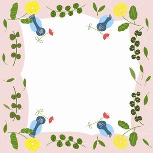 青い鳥と黄色いお花のイラスト素材 [FYI04872060]