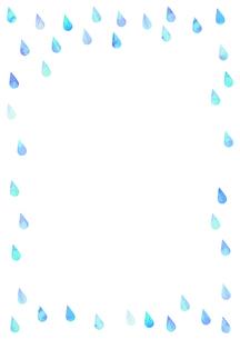 雨粒や水滴の装飾枠のイラストのイラスト素材 [FYI04872087]