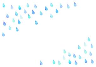 雨粒や水滴のイラストのイラスト素材 [FYI04872088]