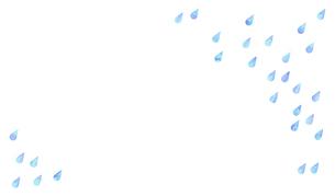 雨や水滴が斜めに降っているイラストのイラスト素材 [FYI04872091]