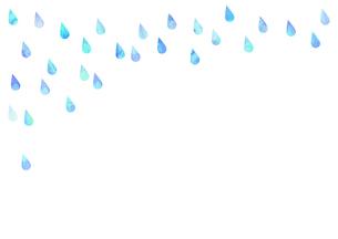雨や水滴の雫が降っているイラストのイラスト素材 [FYI04872096]