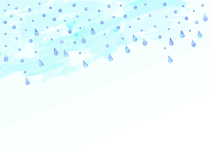 雨が降っているイラスト 【水色の背景】のイラスト素材 [FYI04872097]