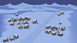 Snowy Villageのイラスト素材 [FYI04872214]