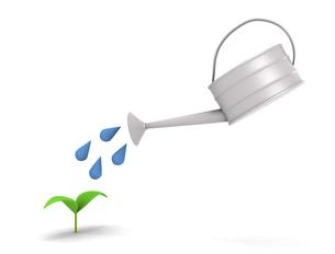植物に水を注ぐのイラスト素材 [FYI04872510]