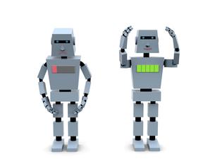 働くロボットのイラスト素材 [FYI04872637]