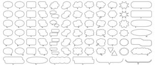 吹き出しセットのイラスト素材 [FYI04873121]