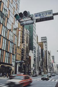銀座七丁目の風景の写真素材 [FYI04873217]