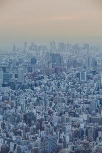 東京スカイツリーから望む東京の街並みと都心のビル群の写真素材 [FYI04873233]