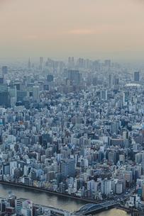 東京スカイツリーから望む東京の街並みと都心のビル群の写真素材 [FYI04873234]