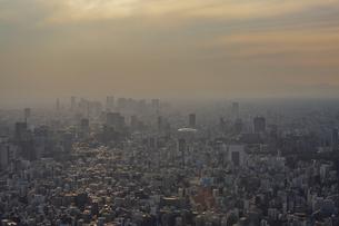 東京スカイツリーから望む東京の街並みと都心のビル群の写真素材 [FYI04873240]
