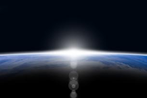 地球と光 CGのイラスト素材 [FYI04873264]