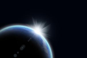 地球と光 CGのイラスト素材 [FYI04873266]