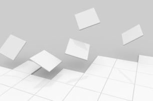 浮かび上がる正方形 CGのイラスト素材 [FYI04873277]