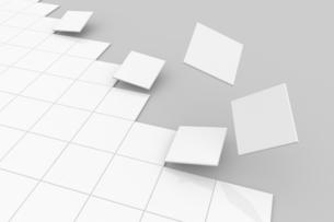 浮かび上がる正方形 CGのイラスト素材 [FYI04873278]