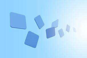 浮かぶ四角形と光 CGのイラスト素材 [FYI04873279]