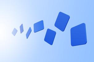 浮かぶ四角形と光 CGのイラスト素材 [FYI04873280]