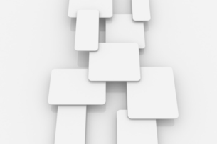 重なる立体的な四角形 CGのイラスト素材 [FYI04873283]