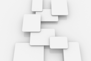 重なる立体的な四角形 CGのイラスト素材 [FYI04873284]